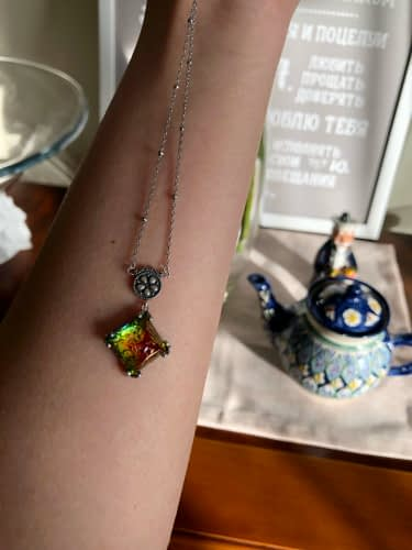 Electra Rainbow Pyramid Necklace photo review