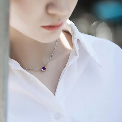 """Amethyst """"Intuitive Eye"""" Necklace"""