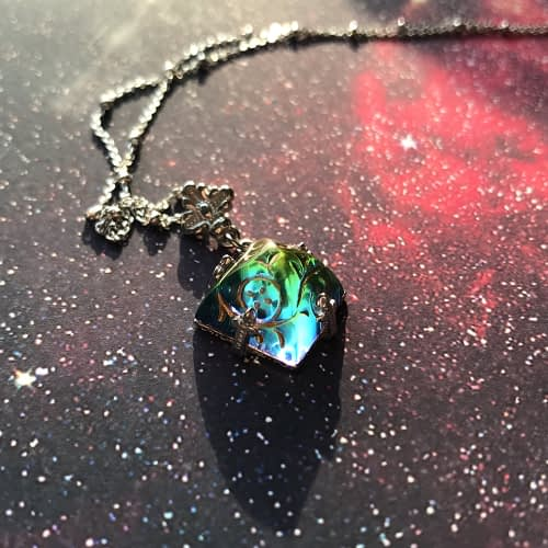 Rainbow Pyramid Necklace