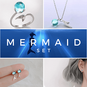 Mermaid's Tail Jewelry Set
