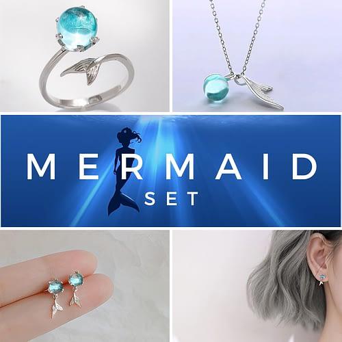 Mermaid's Tail Jewelry Set
