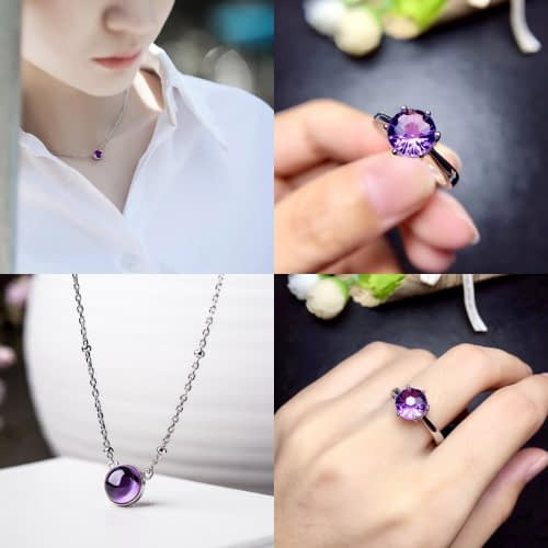 """Amethyst """"Protection"""" Jewelry Set"""