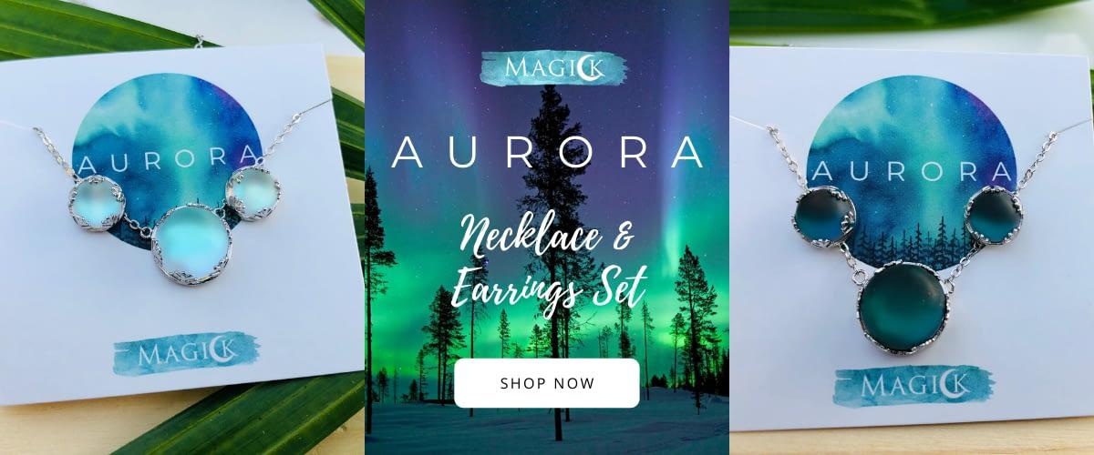 Aurora Necklace & Earrings Set