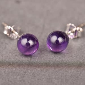 Amethyst S925 Silver Earrings