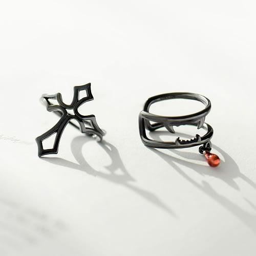 Vampire & Cross Ear Clips