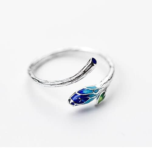 Elm Leaf Silver Ring