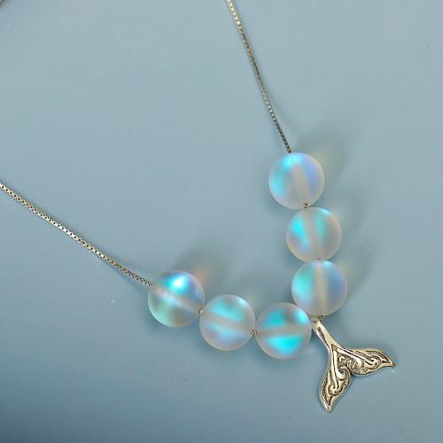 Mermaid Rainbow Aura Necklace